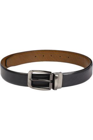 Boxer Men Black & Brown Solid Reversible Italian Leather Belt BB2-04 B34
