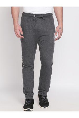Pantaloons Men Charcoal Grey Solid Track Pants