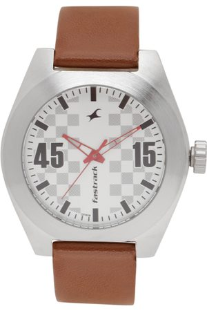 Fastrack Men White Printed Dial Watch 3110SL01
