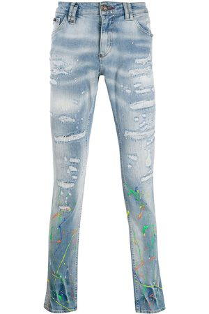 Philipp Plein Distressed slim-fit jeans