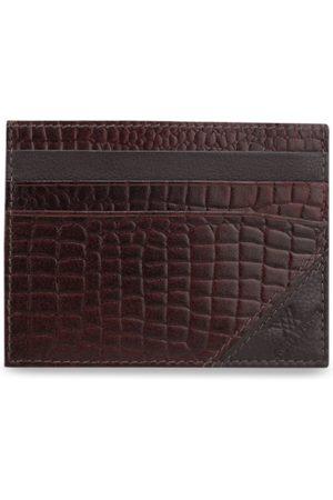 Aditi Wasan Men Brown Textured Card Holder