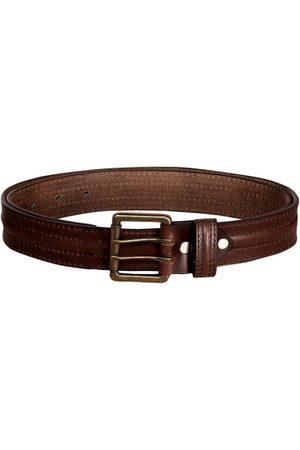 Scharf Men Brown Solid Genuine Leather Belt