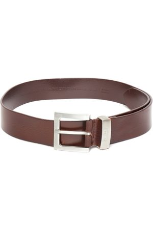 Levi's Men Coffee Brown Solid Leather Belt