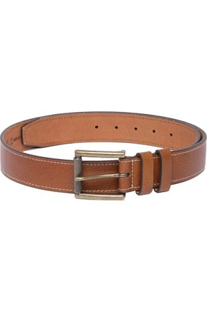 Roadster Men Brown Textured Leather Belt
