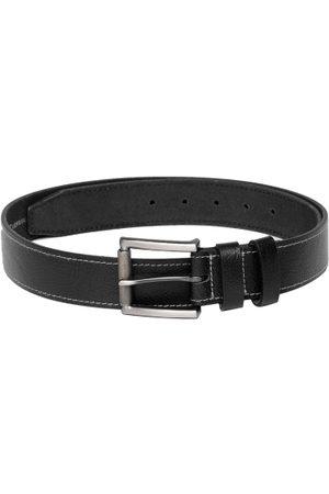 Roadster Men Black Textured Leather Belt