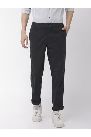 Tommy Hilfiger Men Navy Blue Active Pant Slim Fit Solid Regular Trousers