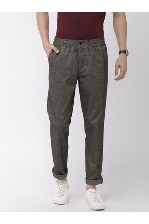 Tommy Hilfiger Men Grey Active Pant Slim Fit Solid Regular Trousers