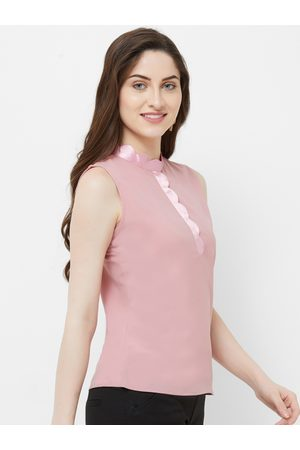 MISH Women Pink Solid Shirt Style Top