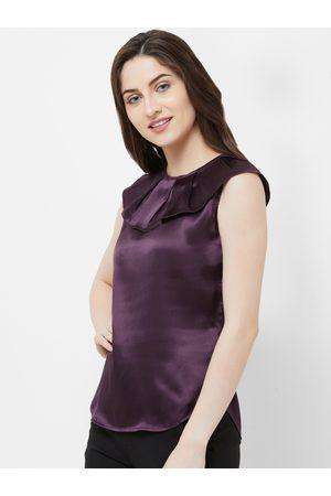 MISH Women Purple Solid Top