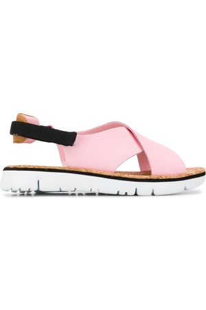 Camper Women Platform Sandals - Oruga cross-over sandals