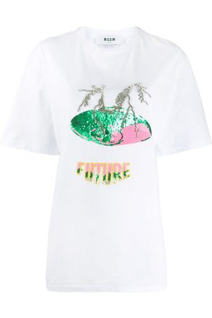 Msgm Embellished Future T-shirt