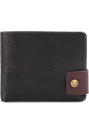 Hidesign Men Black Solid LeatherTwo Fold Wallet