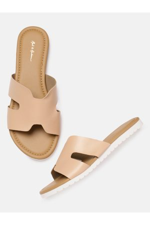 Mast & Harbour Women Pink & Beige Open Toe Flats