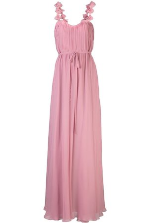 Marchesa Notte Floral embroidered bridesmaid gown