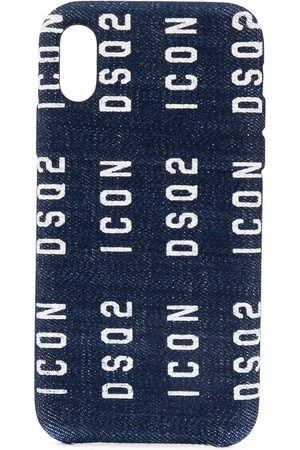 Dsquared2 Men Phone Cases - Denim logo iPhone X case