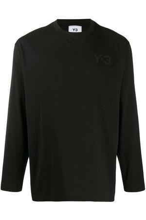 Y-3 Crew neck logo-print top