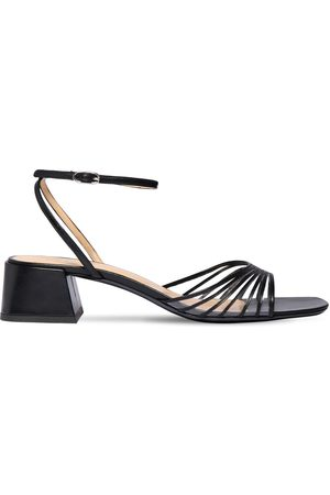 By Far 40mm Anna Plexi & Leather Sandals