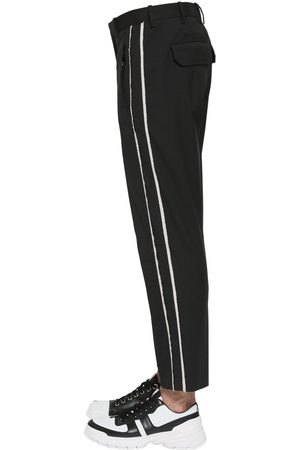 Neil Barrett Striped Stretch Cotton Canvas Pants