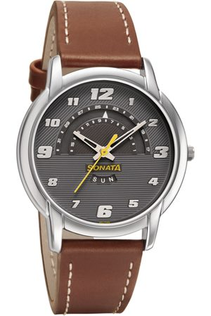 Sonata RPM Men Grey Analogue watch 77031SL03