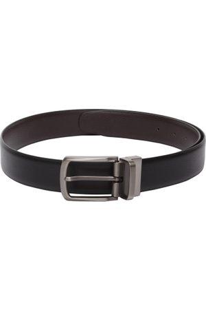 amicraft Men Black & Brown Reversible Textured Belt