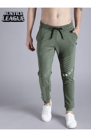 Justice League Men Green Joggers