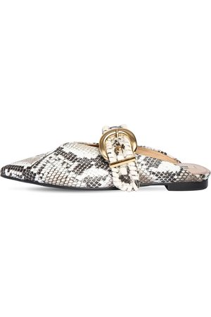 Reike Nen 10mm Python Printed Leather Mules