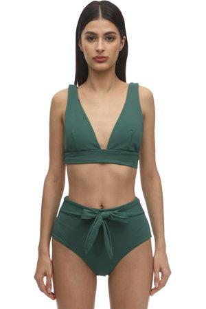 Eberjey Vivian Stretch Nylon Piqué Bikini Top