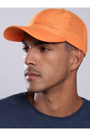 HRX Men Orange Solid Outdoor Dry Fit with Sweatband Cap