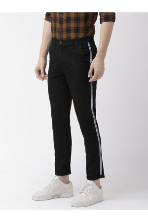 The Indian Garage Co Men Black Slim Fit Solid Chinos