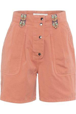 Etro High-rise cotton shorts