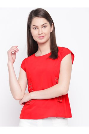 marie claire Women Red Solid Top