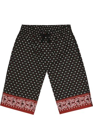 Dolce & Gabbana Printed cotton bermuda shorts