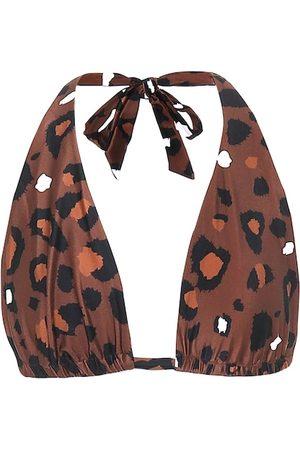 The Upside Adriana leopard-print bikini top