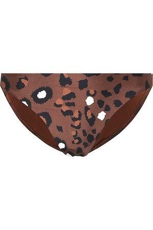 The Upside Moss leopard-print bikini bottoms