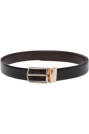 amicraft Men Black & Brown Reversible Solid Belt