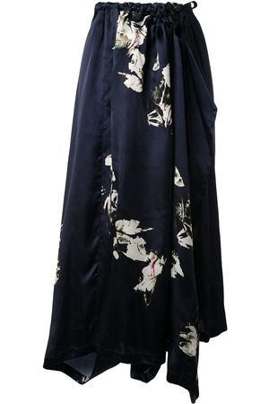 Y's Tie waist floral trousers