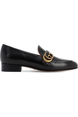 Gucci 25mm Marmont Leather Loafers