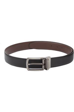 amicraft Men Black & Brown Textured Reversible Belt