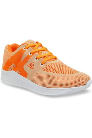 meriggiare Women Orange Flyknit Sneakers