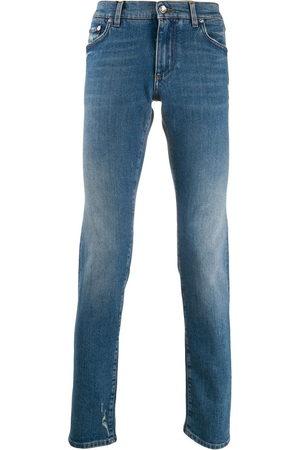 Dolce & Gabbana Men Straight - Logo plaque jeans
