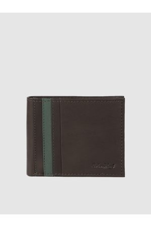 ColorPlus Men Brown Solid Two Fold Leather Wallet