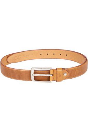 ColorPlus Men Khaki Textured Leather Belt
