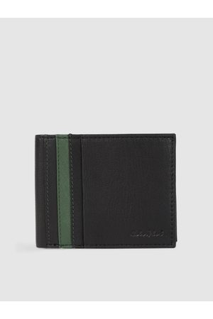 ColorPlus Men Black Solid Leather Two Fold Wallet
