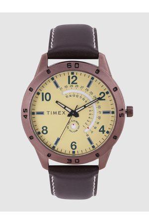 Timex Men Yellow Analogue Watch TW000U930