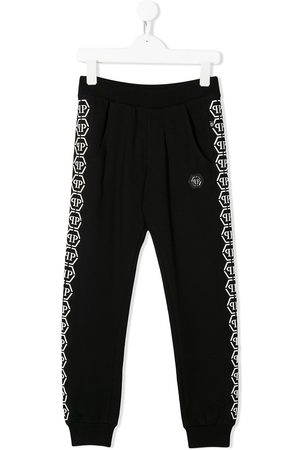 Philipp Plein Junior Logo tape track trousers
