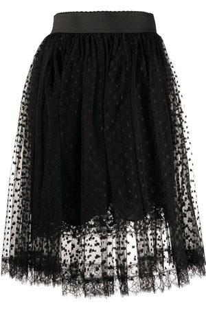 Dolce & Gabbana Women Midi Skirts - Pleated lace midi skirt