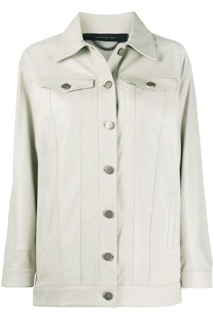 FEDERICA TOSI Women Leather Jackets - Buttoned leather jacket