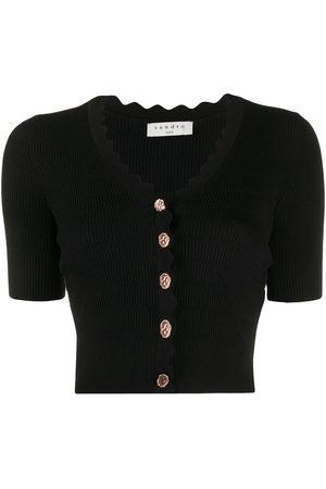 Sandro Women Short Sleeve - Short-sleeve cropped cardigan