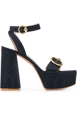 Gianvito Rossi Women Platform Sandals - Zandra denim sandals