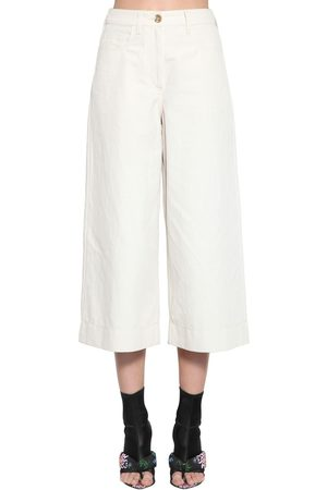 Kenzo Cropped Soft Linen Drill Culottes